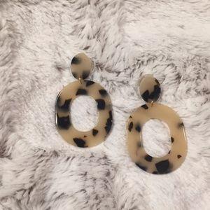 Jewelry - Light Leopard Acrylic Drop Earrings